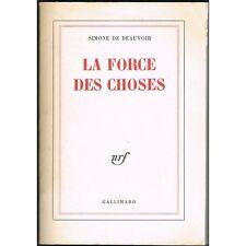 La FORCE des CHOSES de Simone De BEAUVOIR Opinion Engagement NRF Gallimard 1964