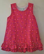 NWT Lolly Wolly Doodle Pink W/Multi-Colored Polka Dots Dress / Jumper ~ Size 4