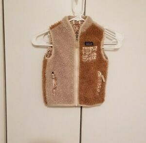 Patagonia Baby Retro X Vest Size 3T Full Zip Fleece Deep Pile