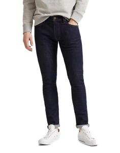 Lee Jeans Homme Luke Slim Coupe Carotte - Bleu - Rinser W26-W46 Coton Stretch