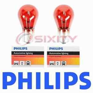 For Saab 9-3 9-3X PHILIPS 2 pc Brake Light Bulbs 2008-2011 sc