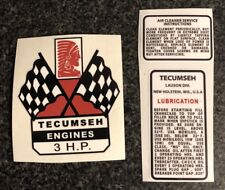 Tecumseh 3 HP DECAL SET Mini Bike