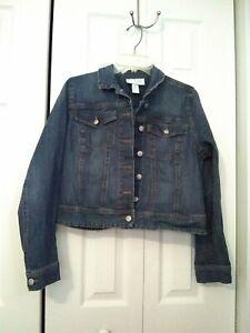 Jessica Simpson blue Jean Jacket Womens Maternity Size Medium EUC