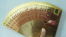New listing Small €500 Paper Money Unc Gold Foil 100Pcs Play Collection Euro Coloured Bill