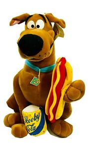 """Scooby Doo Plush Soft Toy 22"""" 56 cm with Scooby Cola and Hot Dog New"""