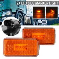 2x 24V LED Side Marker Indicator Light For SCANIA 5 6  P R Cabs G T