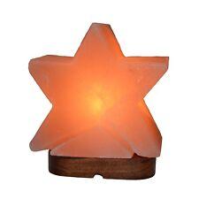 """Salzlampe """"Stern"""" ca. 3,3 KG/  18 cm x 15 cm Salzkristall Salzleuchte Tischlampe"""