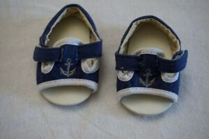 American Girl Bitty Twin Girl Sandals Shoes ONLY from Nautical Skirt Set Anchor