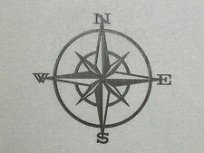 Nautical Compass Wooden Wall Hanging Art Decor