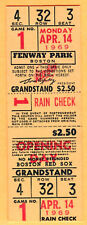 RARE FULL TICKET! 1969 RED SOX OPENING DAY-CONIGLIARO'S COMEBACK AFTER BEANING