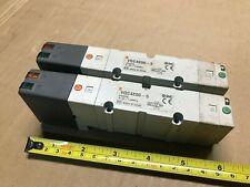 Lot Of 2 Smc Vqc4200 5 Solenoid Valve Plug In Metal Seal Vqc4000 5 Port 24vdc
