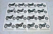 1983 Honda Motorcycle Poster/Sales Brochure- ALL STREET MODELS