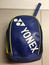 Yonex Tennis Racket Backpack Bag Royal Blue Neon Yellow 4 Zippered Compartments