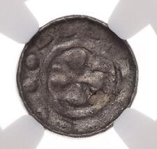 GERMANY, Saxony. Silver Pfennig, 1050-1150, Polish Imitation, NGC AU50