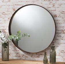 XL nuova con effetto invecchiato Vintage Antico Bronzo in Metallo da appendere tondo Specchio Parete 84 cm