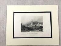 1854 Stampa Eccezionale Temple India Jharmandir Sahib Ganges Fiume Antico Inciso
