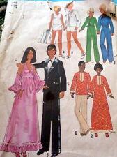 "GREAT VTG 1970s 11 1/2"" & 12"" BARBIE KEN DOLL CLOTHING SEWING PATTERN"