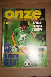 /! Attention Collector /! FOOTBALL ONZE n° 9 la grande époque!