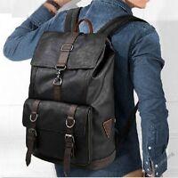 Hot Vintage Men's Fuax Leather Messenger Backpack Bags Briefcase Laptop Satchel