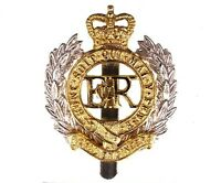 Royal Engineers Beret Cap Badge  British Military - Brass Base Metal