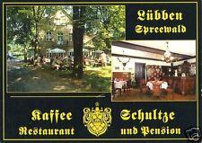 """AK, Lübben, Gaststätte """"Kaffee Schultze"""", 2 Abb., 1996"""