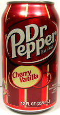FULL 12oz 355ml American Can Limited Edition Dr. Pepper Cherry Vanilla USA 2008