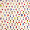 "CANVAS HEAVY COTTON UPHOLSTERY CRAFT FABRIC MATRYOSHKA RUSSIAN DOLL NATURAL 44""W"