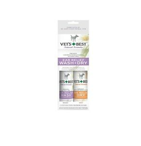 Ear relief Wash Dry Set for Dogs & Pet Fast relief Itching 2 step solution 2x4oz
