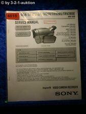Sony Service Manual DCR TRV255E /TRV260 /TRV265 /TRV265E Digital Video(#4815)