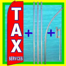Tax Services 15' Tall Swooper Flag Advertising Kit Feather Flutter Bow Banner