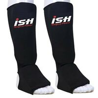 Shin Instep Pads MMA Kick Boxing Muay Thai Leg Guards Foot Protectors Pads PAIR