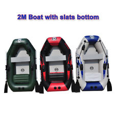 2m inflatable pvc boat  inflatables kayak fishing boat  with air deck bottom