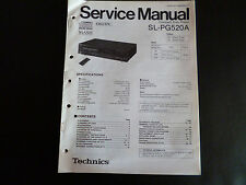 Service Manual Technics sl-pg-520a