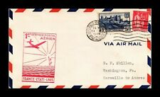 DR JIM STAMPS MARSEILLE HORTA AIRMAIL FIRST FLIGHT FRANCE COVER