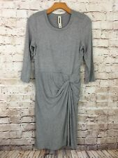 Anthropologie Amadi Black White Striped Jersey Knit Knot Stretch Dress Small