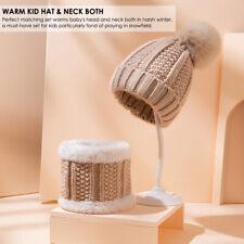 2pcs/set Baby Toddler Winter Hat Scarf Set Kids Warm Knit Beanie Hat&Neck Scarf