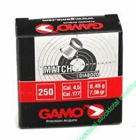 1500 BALINES - 6 CAJAS DE 250 - BALINES GAMO MATCH DIABOLO CALIBRE 4,5 6320014