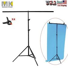 200*200cm T Backdrop Stand Metal PVC Background Photography Support System+Clamp