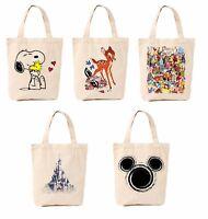 Bambi Mickey Castle Shopping Cotton Bag Canvas Tote Bag