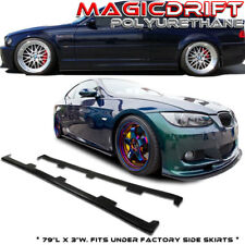 For BMW E46 M3 Urethane Side Skirts Flat Extension Splitters DF Downforce DTM