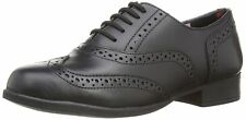 Hush Puppies Kada Girl's Black Leather Brogue Shoes UK 1 Junior Wide Fit BNIB