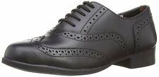 Hush Puppies Kada Girl's Black Leather Brogue Shoes UK 13 Wide Fit EU 32 BNIB