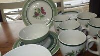Stoneware Dinnerware set Cherise by THOMSON Cherry design service 6 24 piece