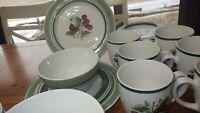 Stoneware Dinnerware set Cherise by THOMSON Cherry design service 6 24 piece