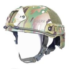 Bullet Resistant Kevlar Helmet,Gunfighter, NIJ 3A, IIIA, Multi-Camo VAS, Rails