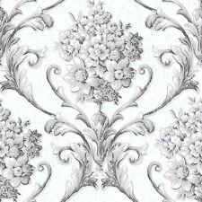 CS35626 - Classic Silks 3 Floral Grey White Galerie Wallpaper