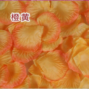 New Wedding Flower girl Basket Rose Artificial Petals Table Scatters 5cm 500pcs