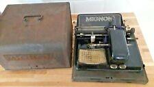 Antique 20th C Mignon Index Typewriter Model 3 Vasanta With Original metal case