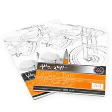 2 X Ashton E Wright - A4 Semi Trasparente Layout Pastiglia - 50gsm Carta -60