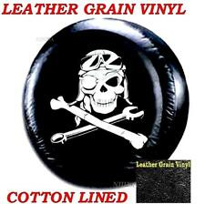 Jeep Wrangler Spare Tire Wheel Cover Leather Protector 31 32 33 MECHANICAL SKULL